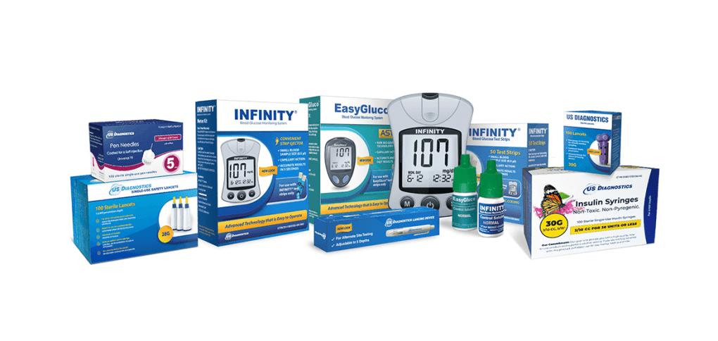 US Diagnostics diabetic products