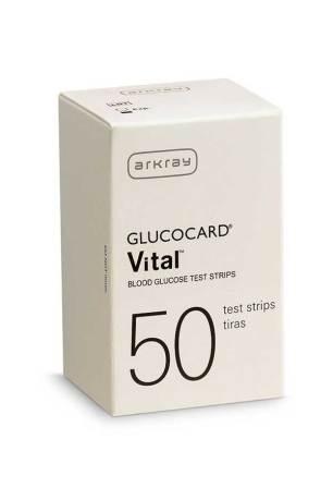 ARKRAY GLUCOCARD VITAL TEST STRIPS 50ct.