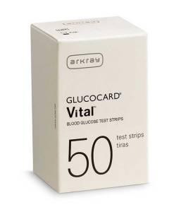 ARKRAY GLUCOCARD VITAL TEST STRIPS 50ct.