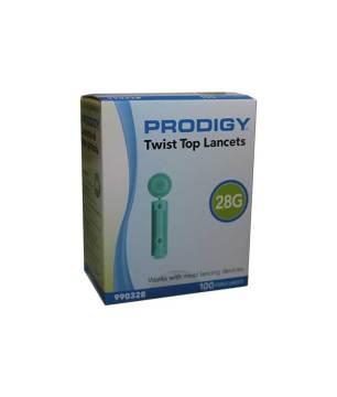 PRODIGY TWIST TOP LANCETS 28G 100ct.