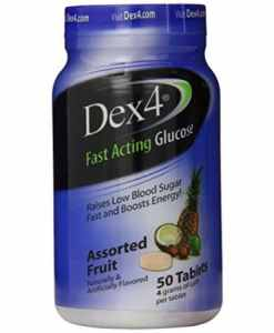 Dex4 Glucose Tablets 50 count Assorted Fruit Flavor