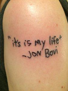 tatouage, risques tatouage,, diabète, jon bon jovi, tatouage raté