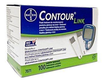 Opakowanie 100 pasków testowych Contour Link