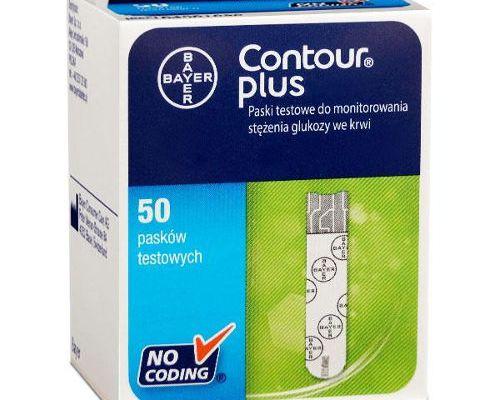 Opakowanie 50 testów paskowych Contour Plus