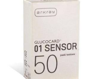 Opakowanie 50 Pasków testowych Glucocard- 01 sensor