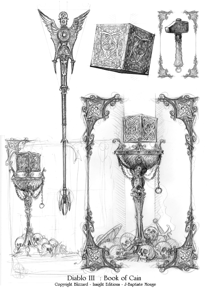 Illustration pour le Livre de Cain réalisée par Jean