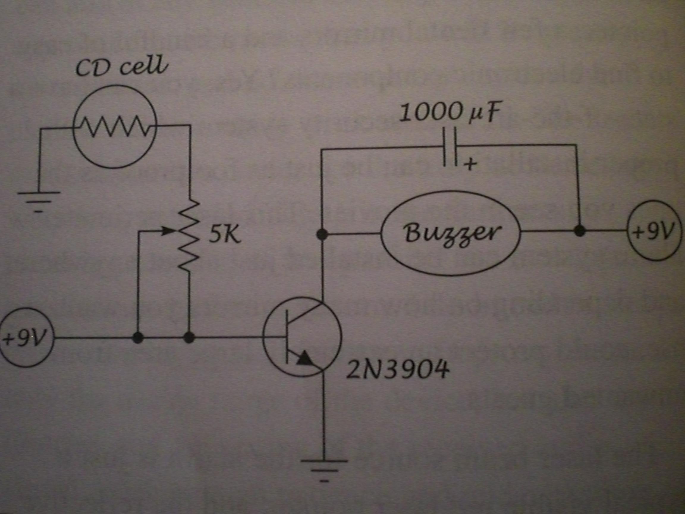 laser alarm schematic