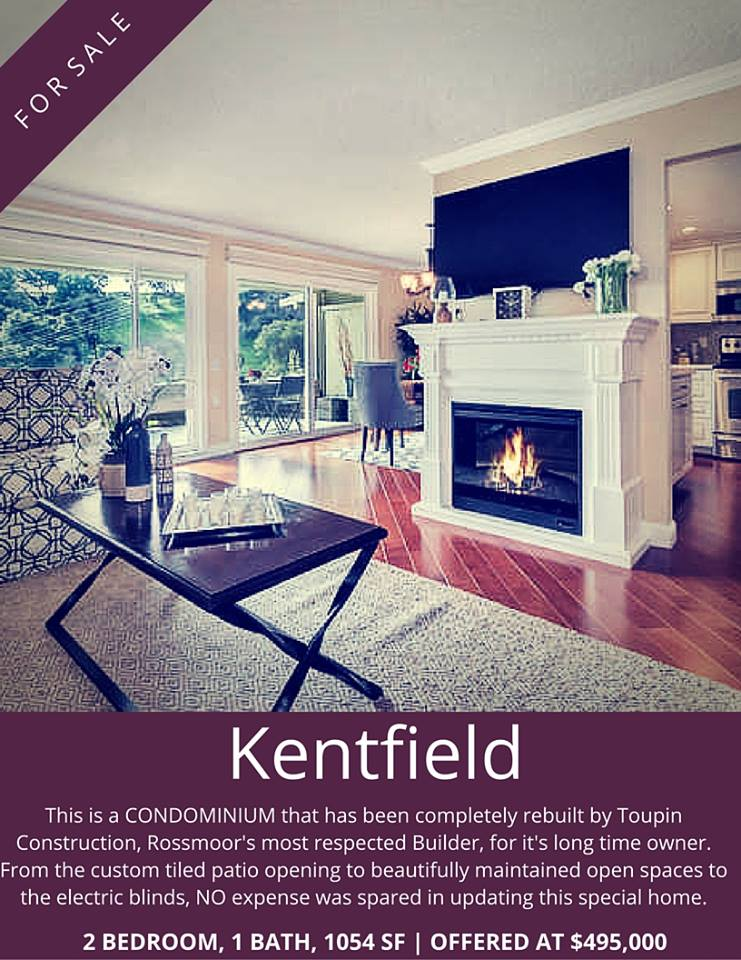 Kentfield condo with fireplac