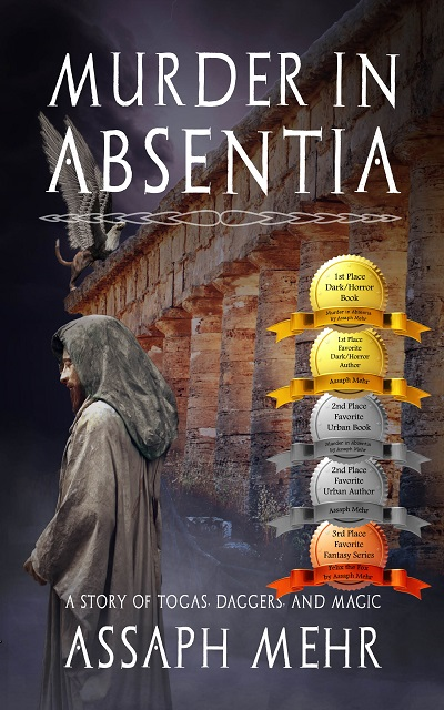 Murder In Absentia - Assaph Mehr - Cover with 5 Awards - small