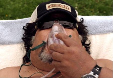 Roly Serrano dans le rôle de Maradona. Sorrentino, Youth, 2015