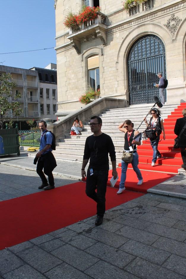Le festival America a sorti le tapis rouge pour accueillir l'équipe de tournage © Christine Marcandier