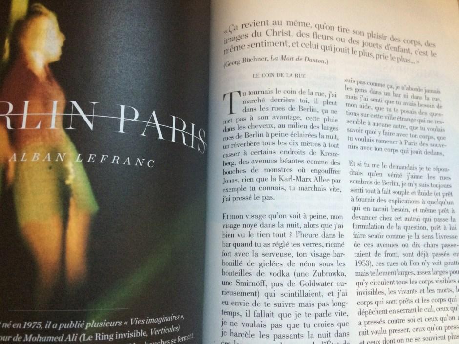 Alban Lefranc, Berlin Paris, in Possession immédiate, vol. 1