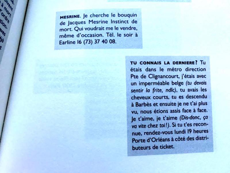 Philippe Artières, Miettes, p. 109