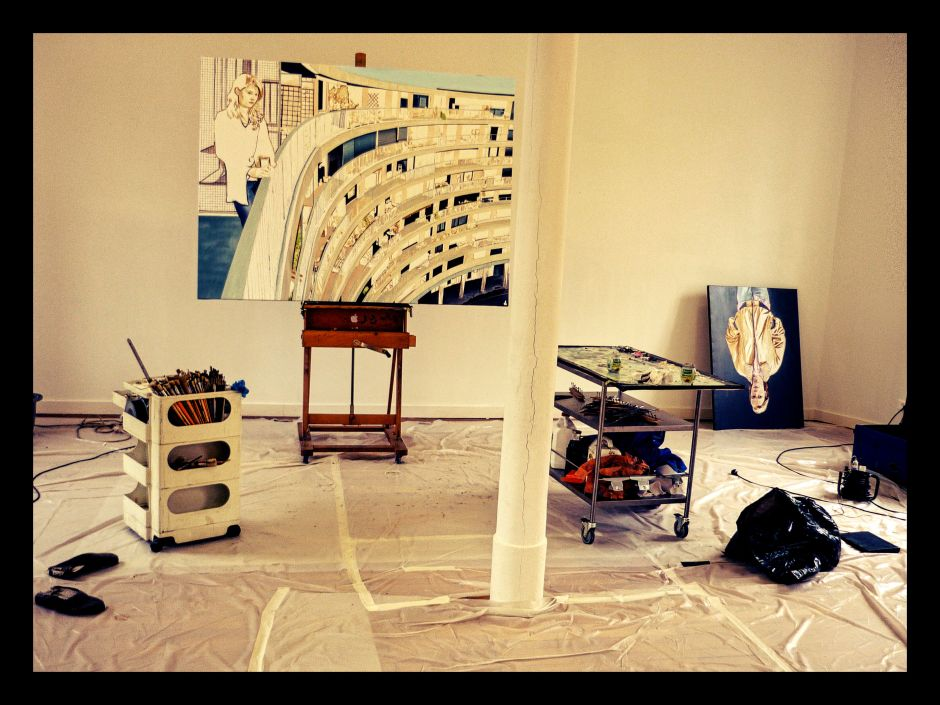 L'atelier de Thomas Lévy-Lasne (résidence Artothèque Caen) © JP Cazier