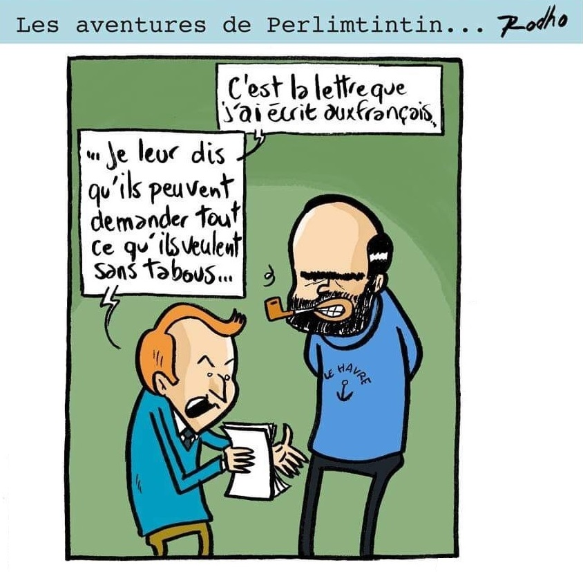 Perlimtintin et la lettre aux Français