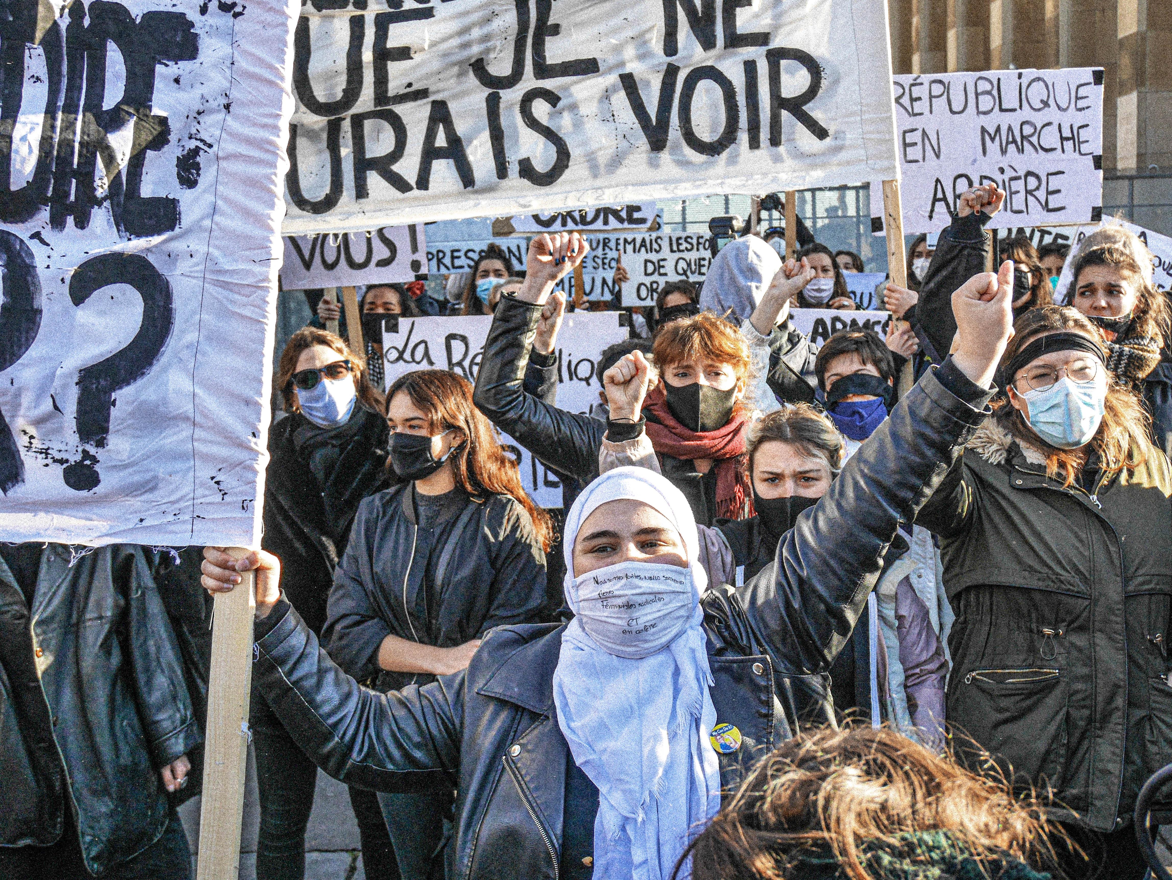Non à la Loi Sécurité globale (place du Trocadéro, Paris, 21 novembre 2020)