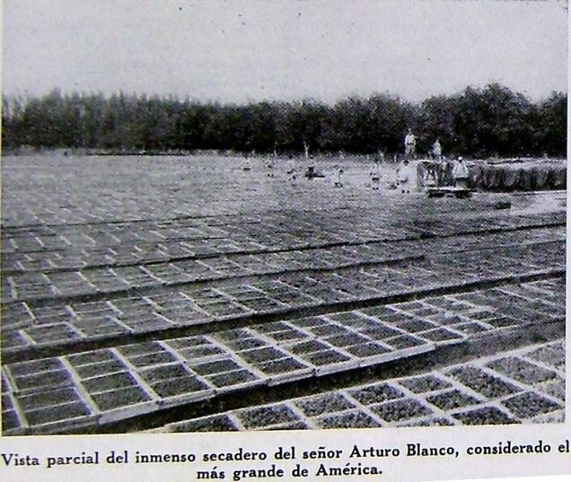 secadero de Arturo Blanco - fuente los andes 1932