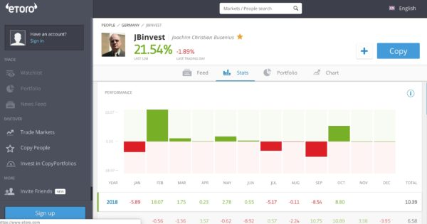 eToro Statistiche Social Trading 2
