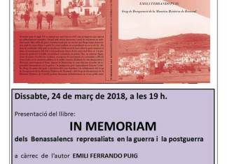 CARTEL IN MEMORIAM BENASSAL