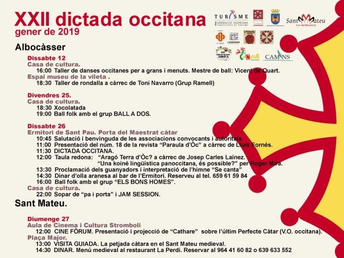 Albocàsser celebra la Dictada Occitana