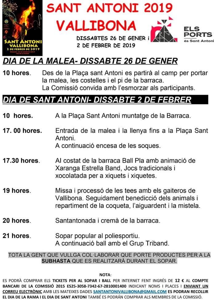 Vallibona Sant Antoni 2019