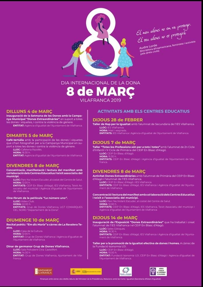 Vilafranca celebra el Dia Internacional de la Dona