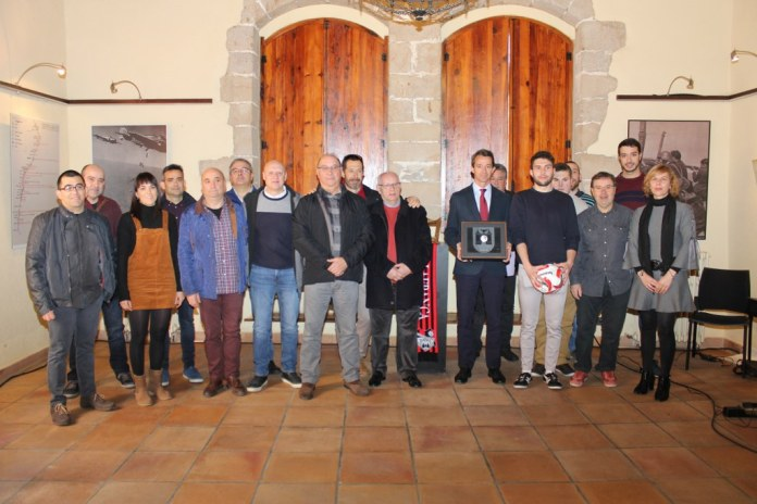 Vilafranca entrega la Medalla de la Vila al CF Vilafranca