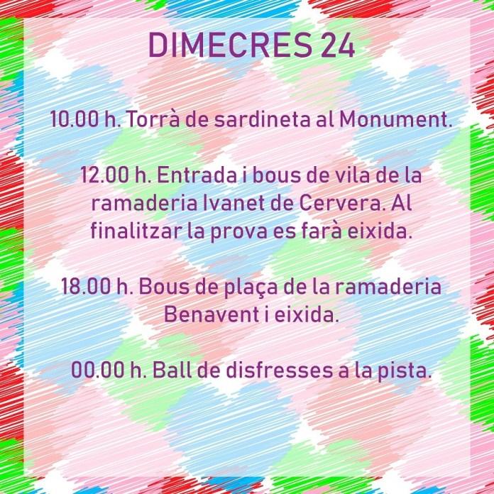 FESTES DE TÍRIG DIMECRES 24