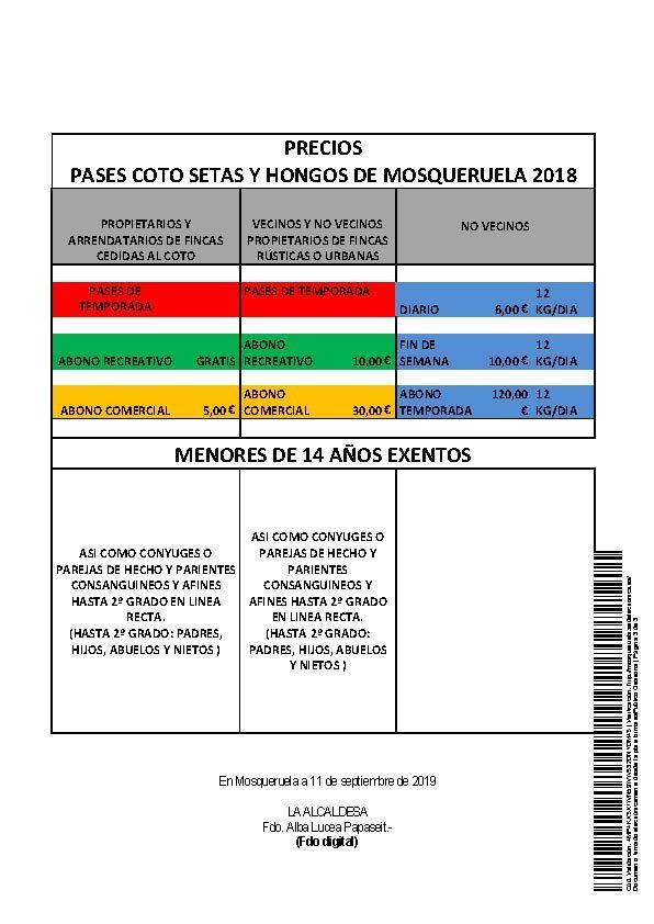 PASES SETAS MOSQUERUELA