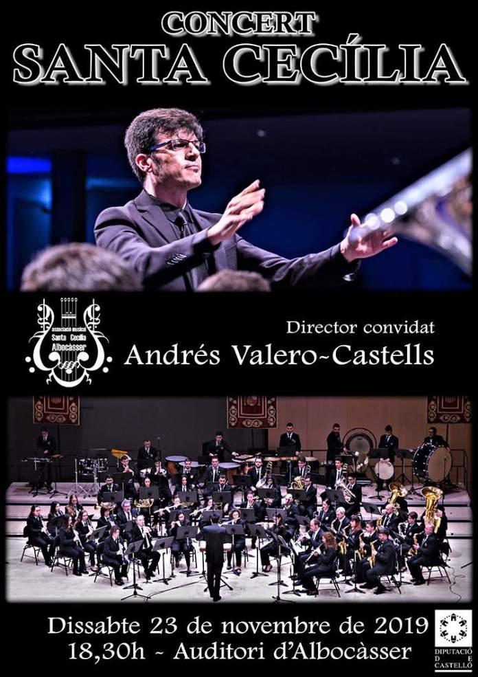 Cartell del Concert de Santa Cecília 2019 a Albocàsser