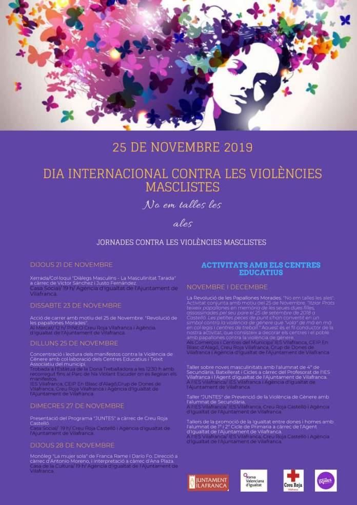 Cartell del Dia internacional contra les violències masclistes a Vilafranca