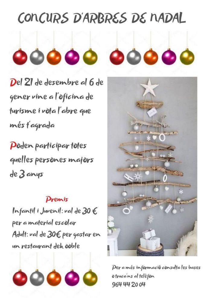 Cartell del Concurs d'arbres de Nadal de Benassal