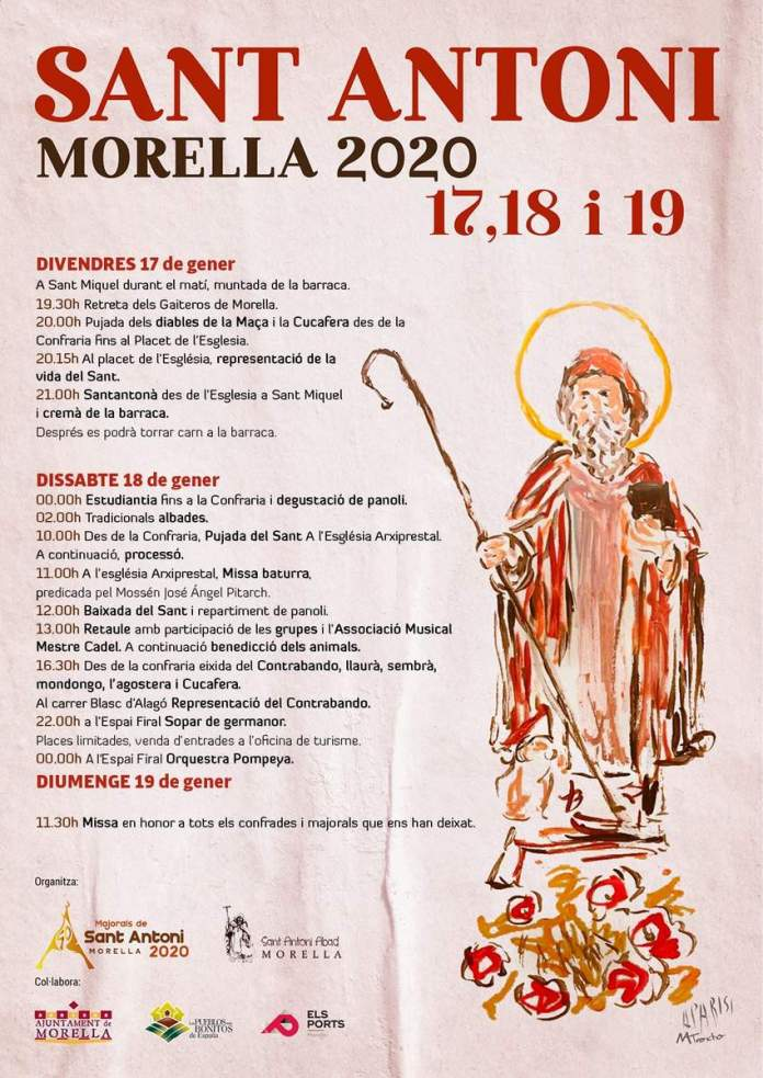 Cartell del Sant Antoni 2020 a Morella