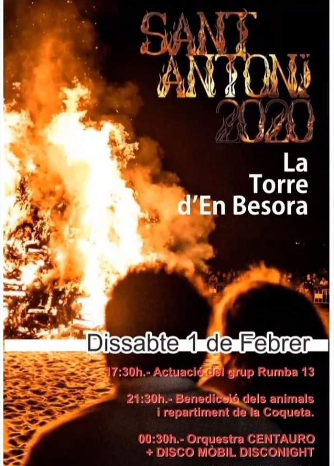 Cartell de Sant Antoni a la Torre d'en Besora
