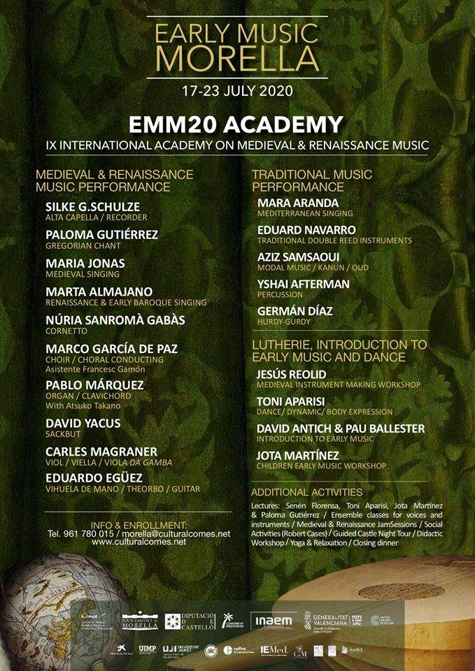 Cartell Early Music Morella Academy