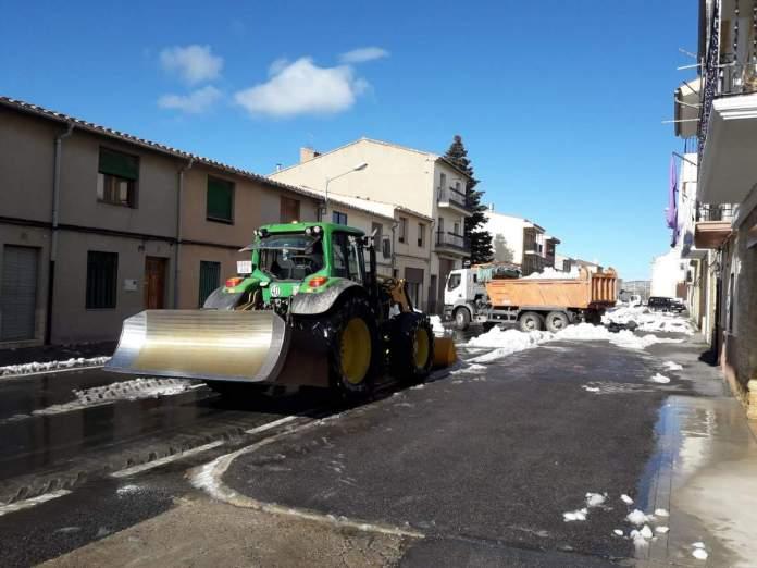 Neteja de la neu a Vilafranca