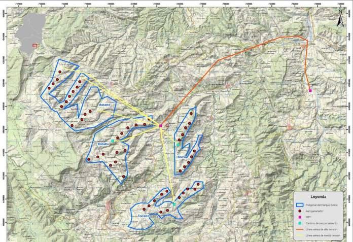Proyecto de varios parques eólicos en los términos de Tronchón, Mirambel, Cantavieja, La Cuba y Villarluengo