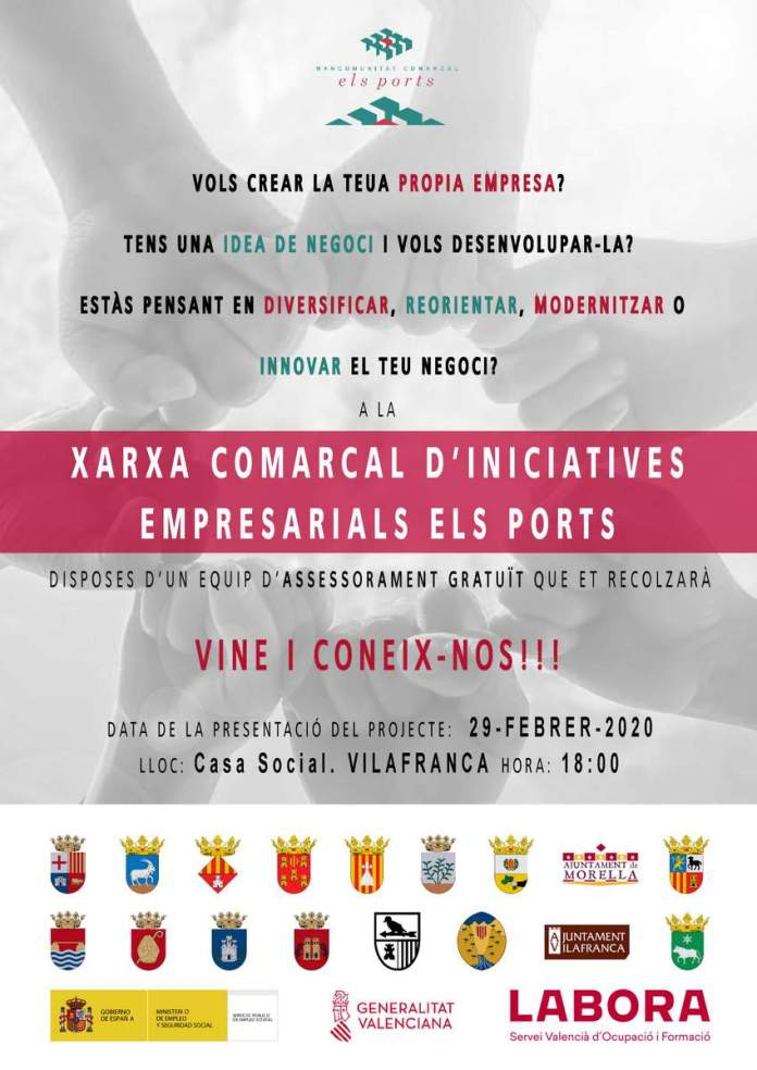 Cartell de la presentació a Vilafranca