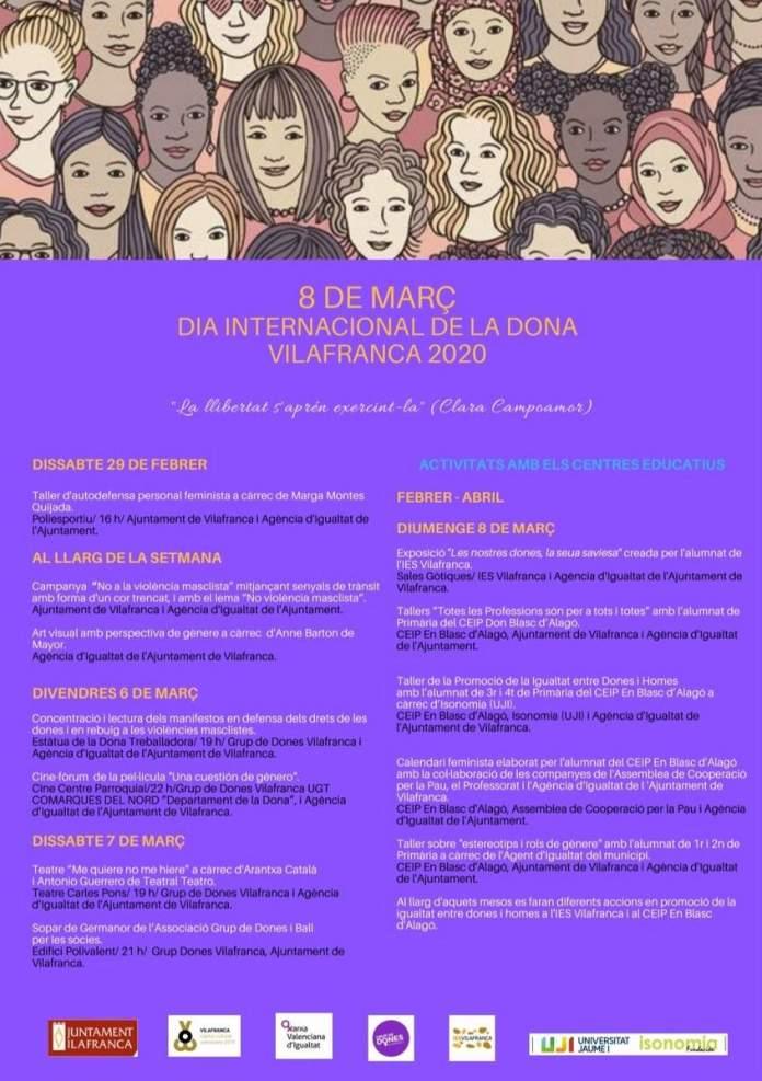 Programació del Dia de la Dona a Vilafranca