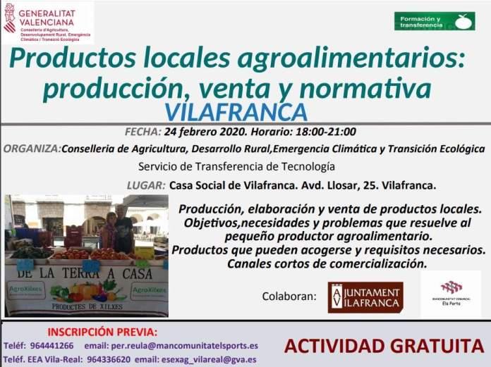 Cartell de la Jornada de productes locals agroalimentaris