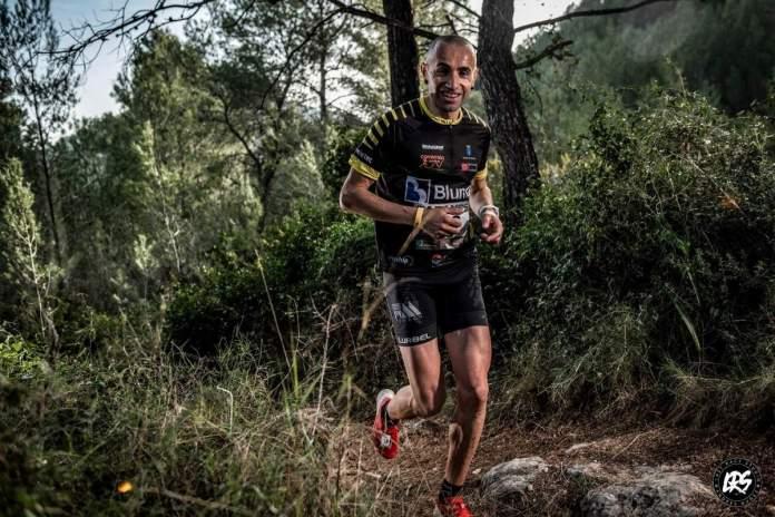 Mario Bonavista durante la carrera