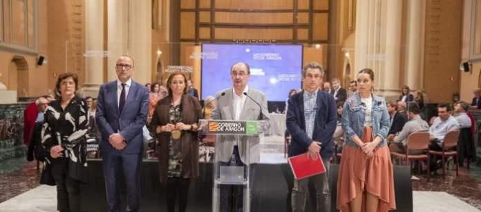 Gobierno de Aragón comunicando la suspensión de clases
