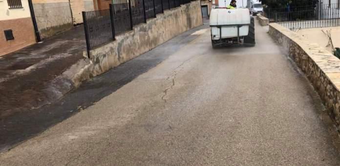 Desinfecció de carrers a La Torre d'en Besora