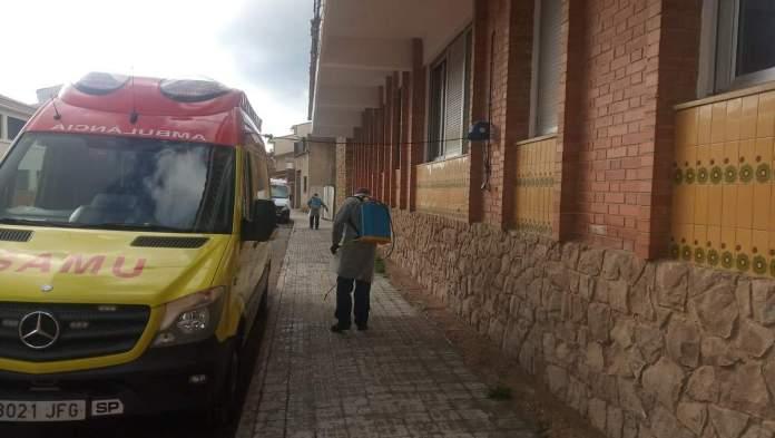 Desinfecció pel coronavirus a Vilafranca