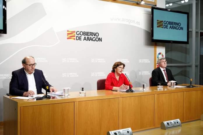 Rueda de prensa del Gobierno de Aragón