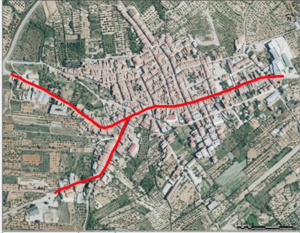 Zona de carretera a adequar a Albocàsser