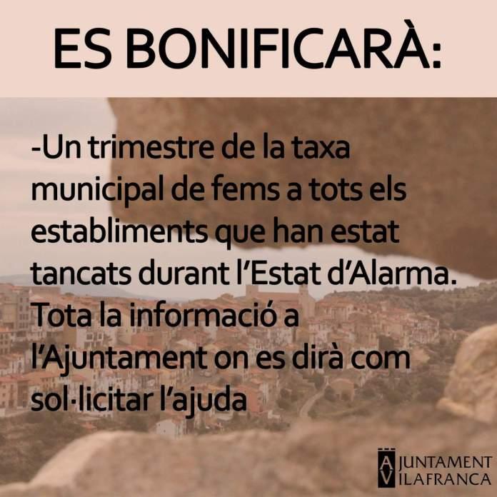 Bonificació a Vilafranca de la taxa de fems