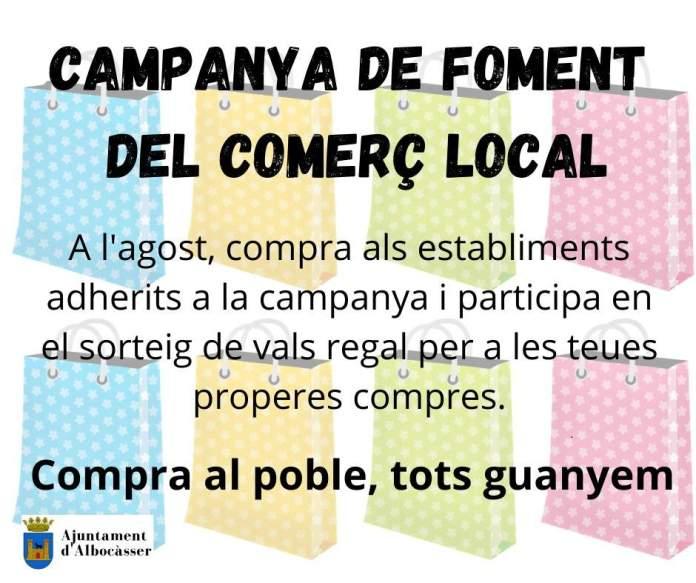 Campanya de foment del comerç local a Albocàsser