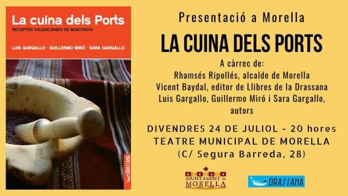 Presentació de La cuina dels Ports a Morella