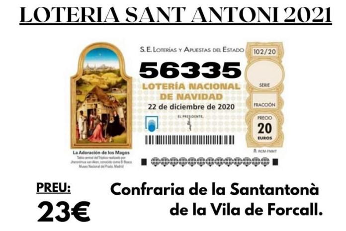 Número de loteria de Sant Antoni de Forcall 2021
